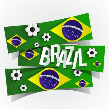Creative Abstract Brazilian Flag