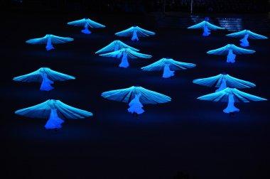Dancers perform a
