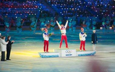 Award ceremony at the Closing ceremony of Sochi 2014