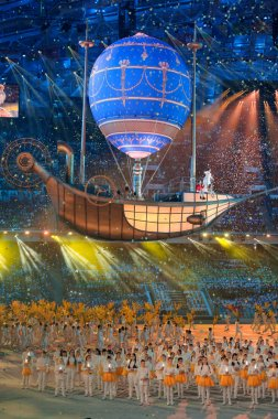 Magic flying ship at the Closing ceremony of Sochi 2014