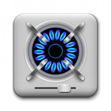 Gas burner icon.
