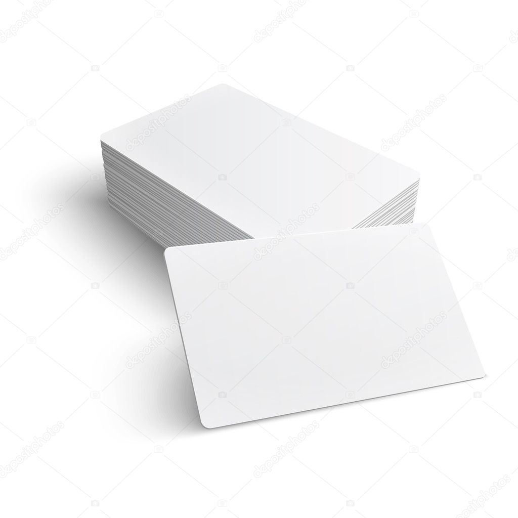 Stack of blank business card. — Stock Vector © gruffi #30475237