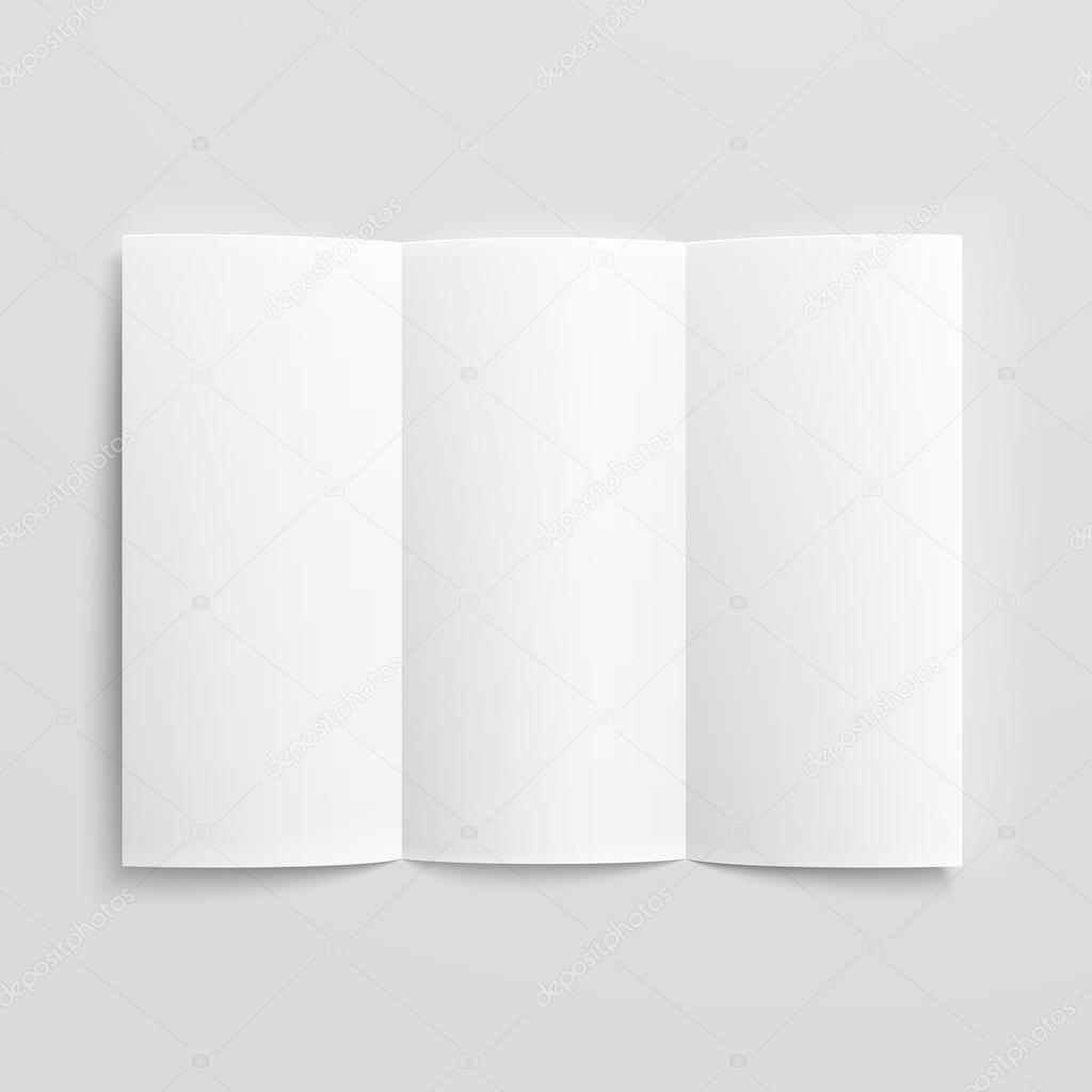 blank trifold paper brochure stock vector gruffi 30985657