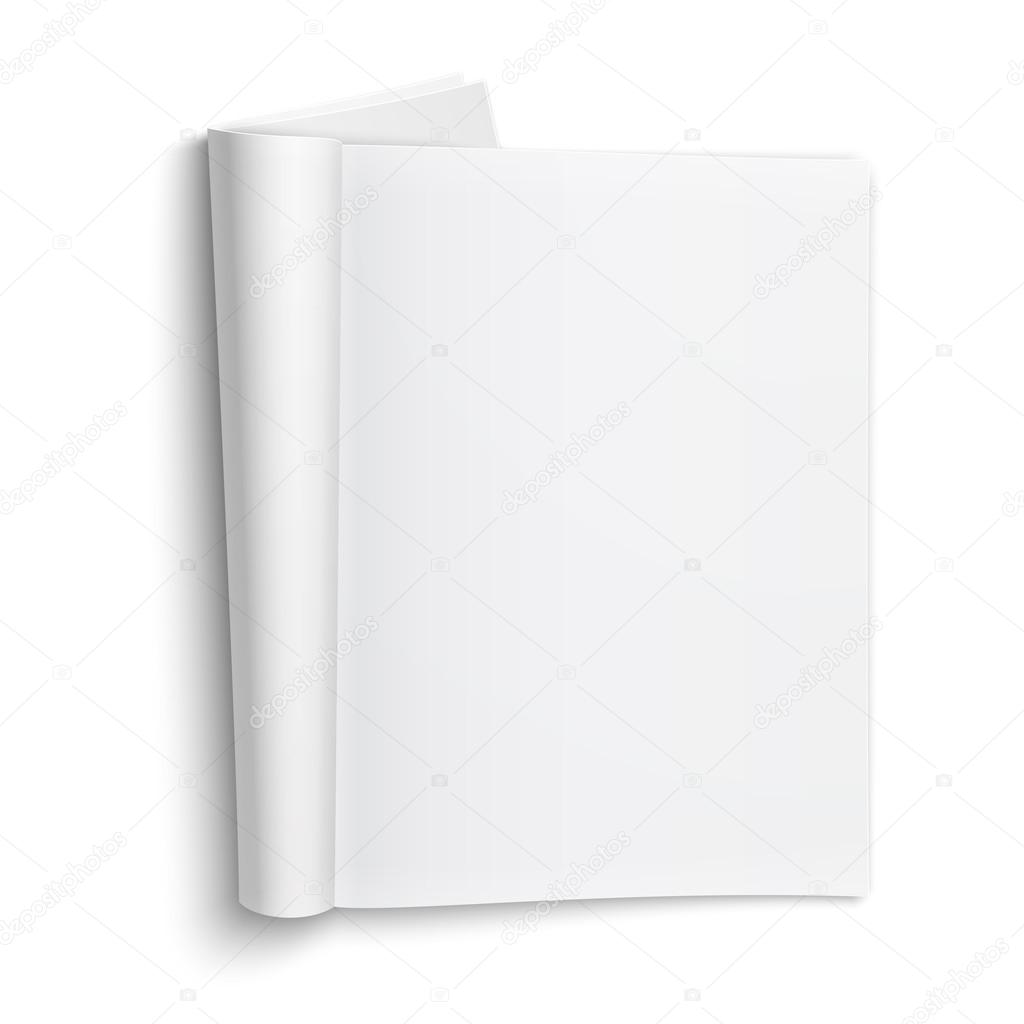 Blank open magazine template with soft shadows. — Stock ...