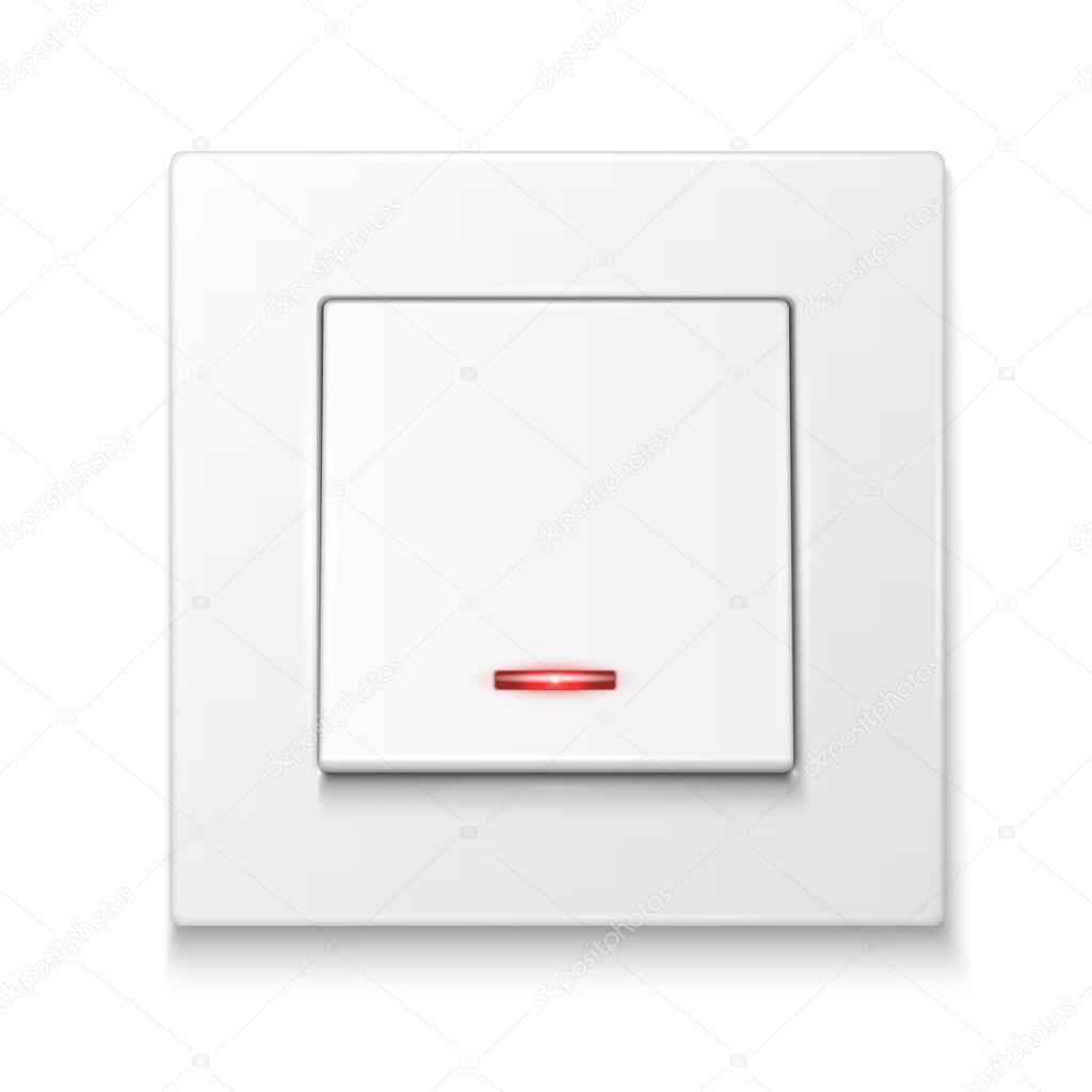 흰색 벽 조명 스위치 — 스톡 벡터 © gruffi #31704791
