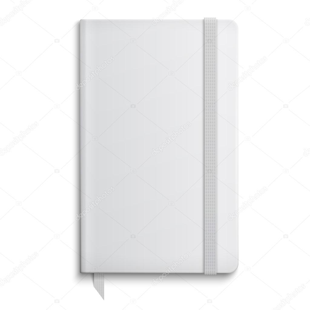 leeren Schreibheft Vorlage mit Gummiband — Stockvektor © gruffi ...