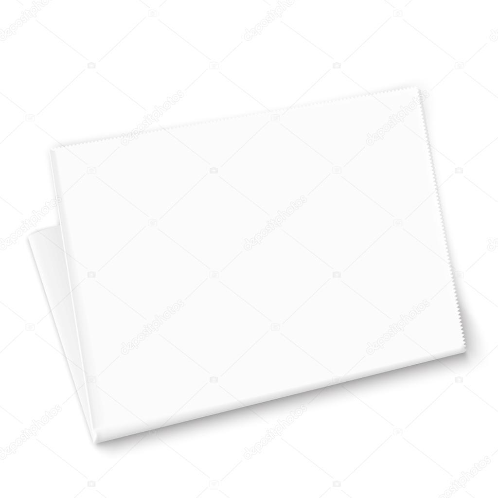 plantilla de periódico en blanco — Archivo Imágenes Vectoriales ...