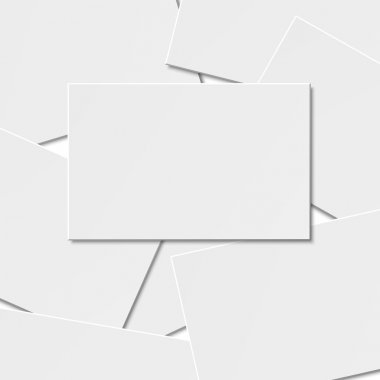 Pile of blank business card.
