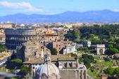 panoramatický pohled na starověké římské ruiny