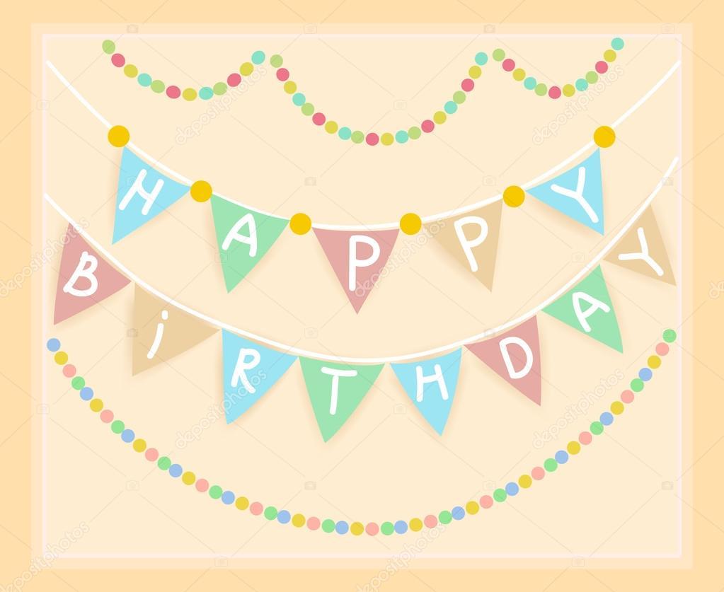 cumpleaños de marco. Banner — Vector de stock © moremari19 #30486637