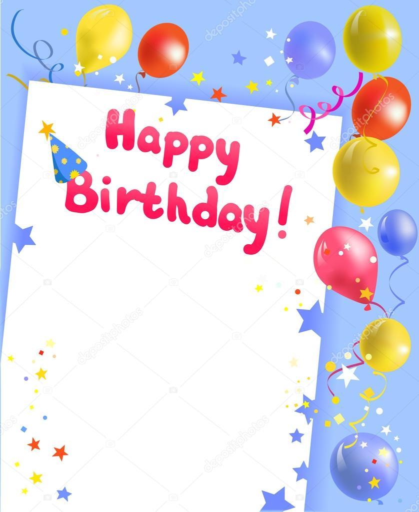festive frame with happy birthday stock vector 32991151