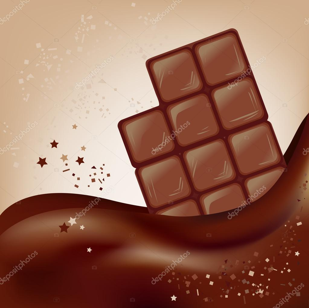 Chocolate Bar On A Beautiful Background Stock Vector C Moremari19