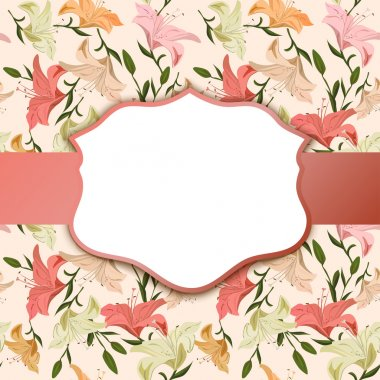 Vintage vignette on a floral background