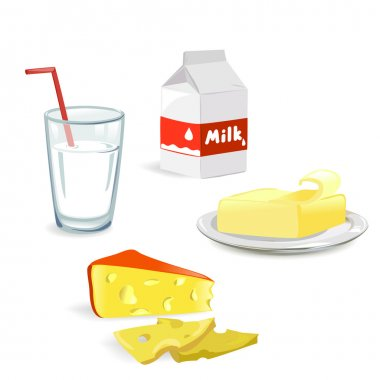 dairy produce isolated