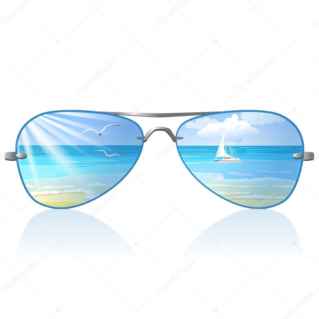 Sea and sunglasses