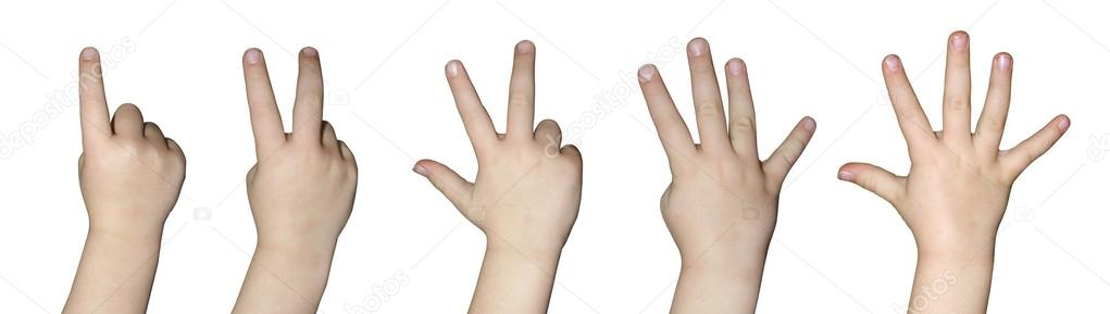 Kids hand counting