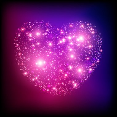 Sparkle bright pink heart.