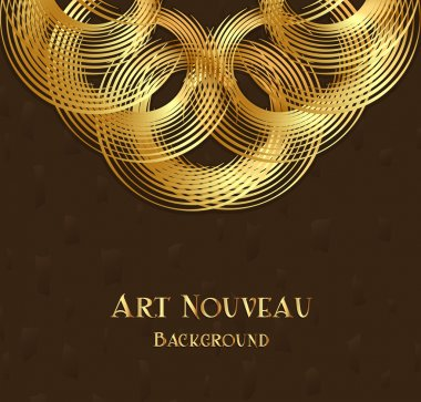 Geometric design element in art nouveau style