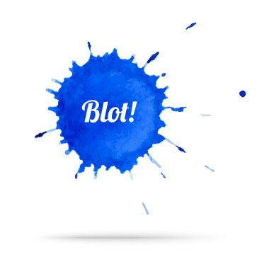 Vector blue ink blot eps 10 illustration clip art vector