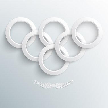 Sport background, paper rings