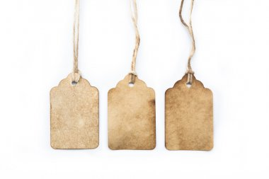 Assortment of vintage tags