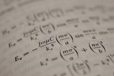 Mathematics formula on page