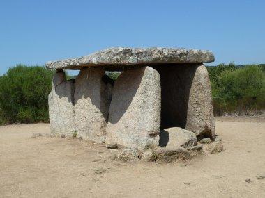 Historic dolmen in Sardinia