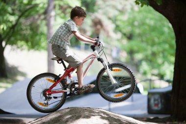 Jump on bike