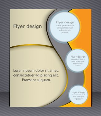 Layout business brochure. Layout flyer, template.