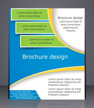 Layout business brochure.