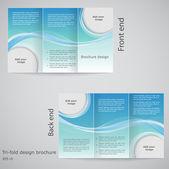 Fotografia progettazione di brochure ripiegabile. modello di progettazione brochure con blu un
