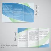 Dreifach gefaltete Broschüre Design. Broschüre-Template-Design in den Farben