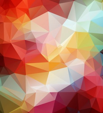 Abstract geometric background. Multi-colored triangle template
