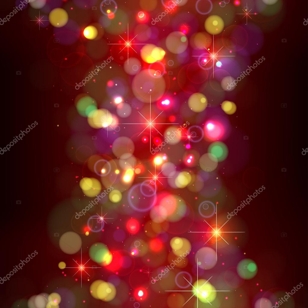 Festive Christmas background with lights.