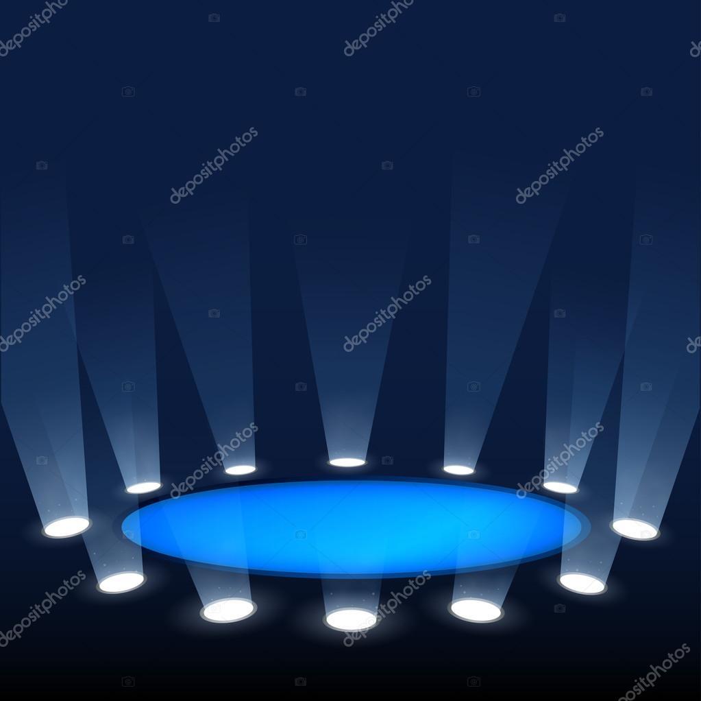 scène door schijnwerpers verlicht — Stockvector © Ramcreative #36727547