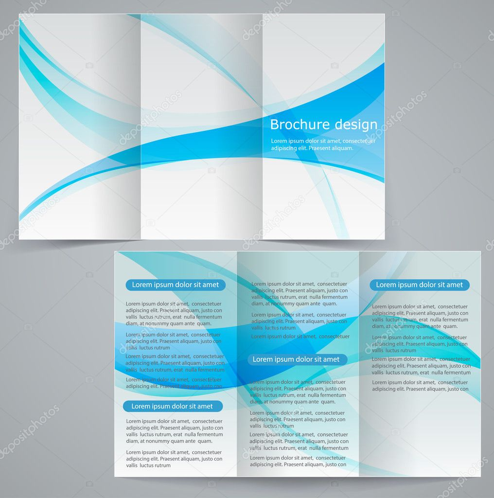 Tri fold business brochure template vector blue design flyer tri fold business brochure template vector blue design flyer stock vector wajeb Images