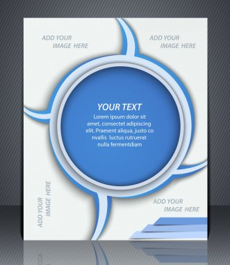 Layout business brochure. Layout flyer, template, or a magazine cover, website template, blue color.