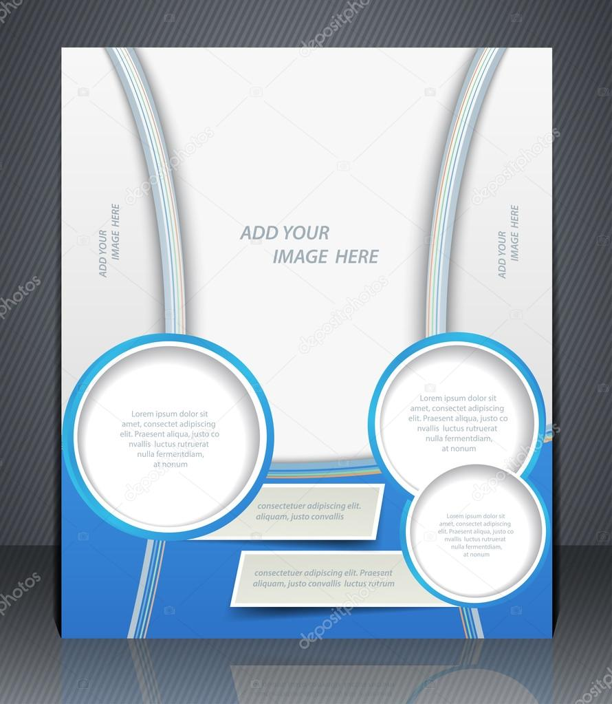 Vector layout business flyer, magazine cover, or corporate design ...