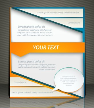 Vector layout business flyer, magazine cover