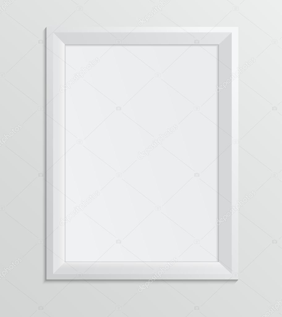Empty white frame on a white background design a4 size stock empty white frame on a white background design a4 size stock vector jeuxipadfo Choice Image