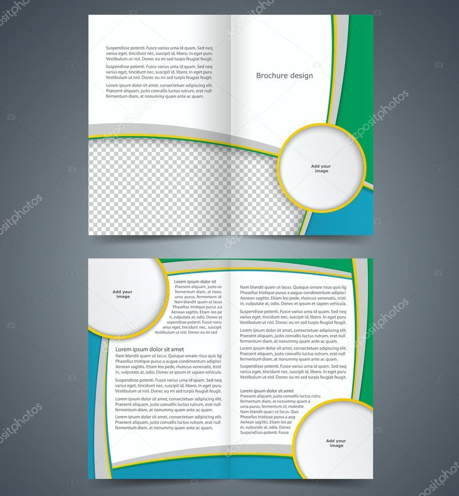 Booklet template design with stripes layout business brochure