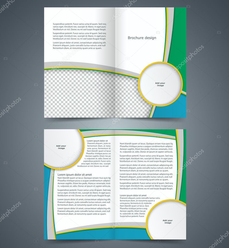 Informational Booklet Template Targergolden Dragonco Depositphotos 44478161  Stock Illustration Booklet Template Design With Stripes Informational  Booklet  Booklet Template