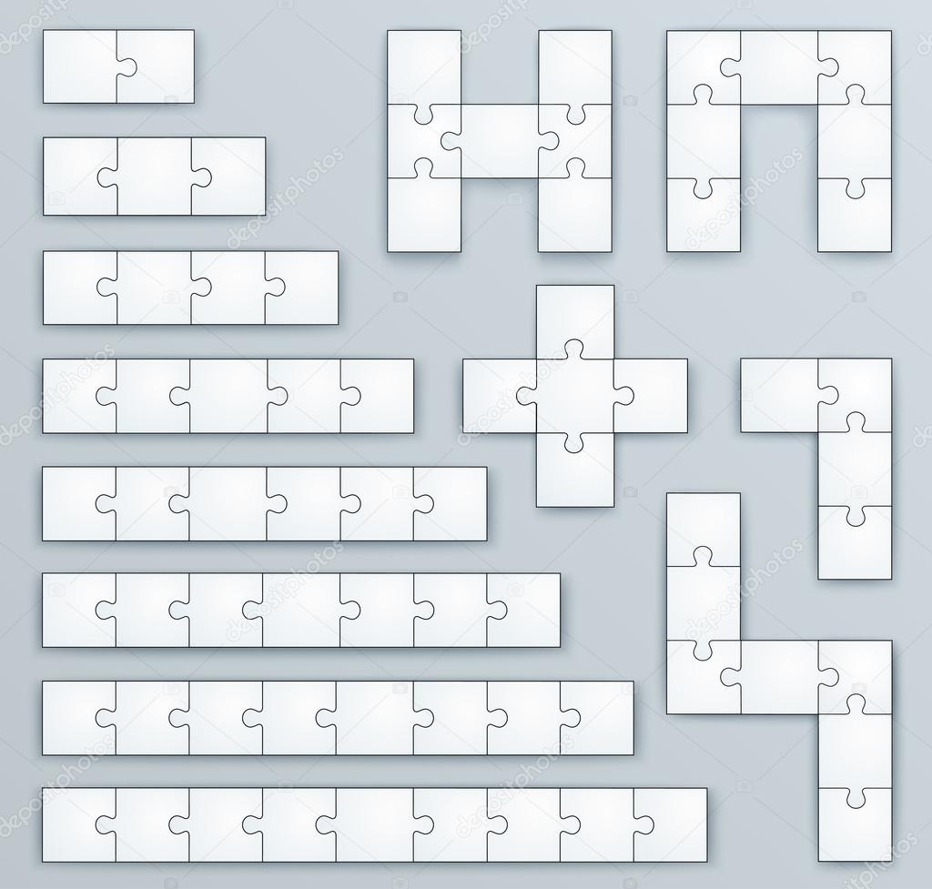 piece jigsaw puzzle template set of of 2 3 4 5 6 7 8 9 p