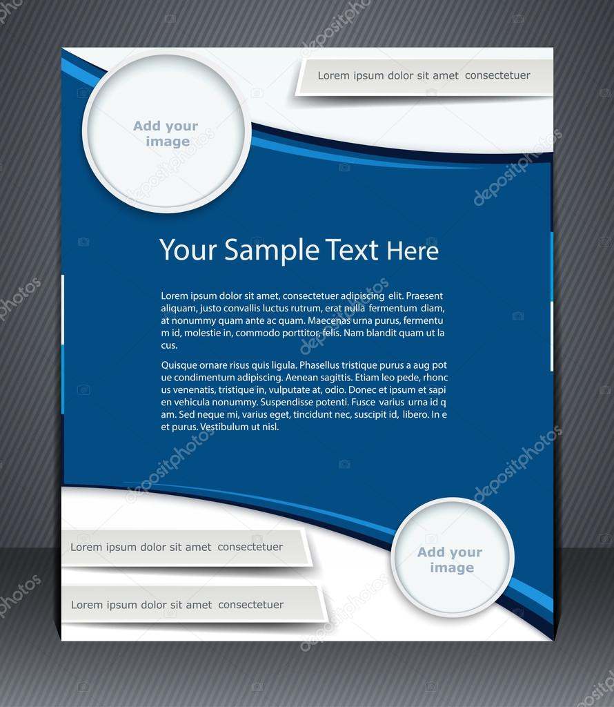Vector layout business flyer, magazine cover, or corporate desig