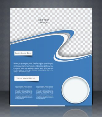 Vector layout flyer, magazine cover, or corporate design templat