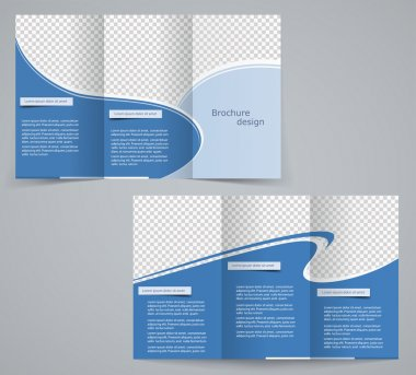 Three fold business brochure template, corporate flyer or cover