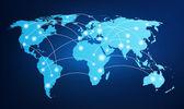 Fényképek global kapcsolatlétesítéskor világtérképet