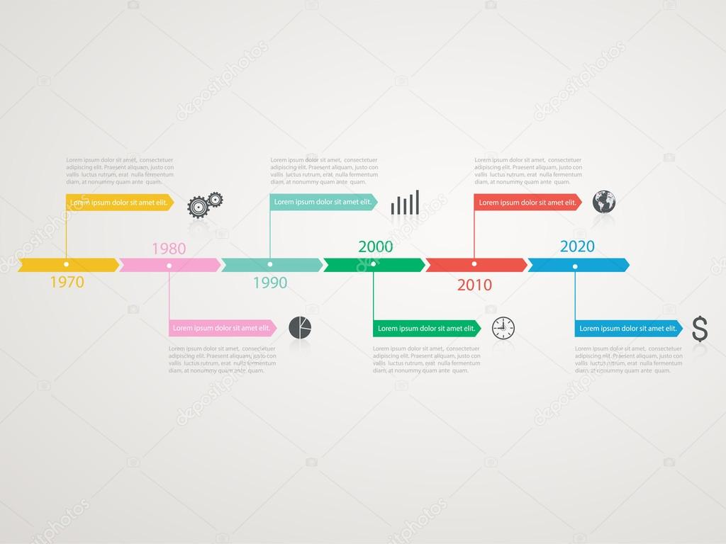 Timeline, infographics template with stepwise structure — Stock ...