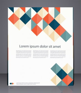 Vector layout business flyer, magazine cover, or corporate geometric design template advertisment stock vector