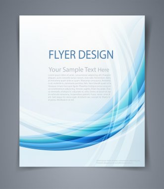 Vector layout business flyer, magazine cover, or design template